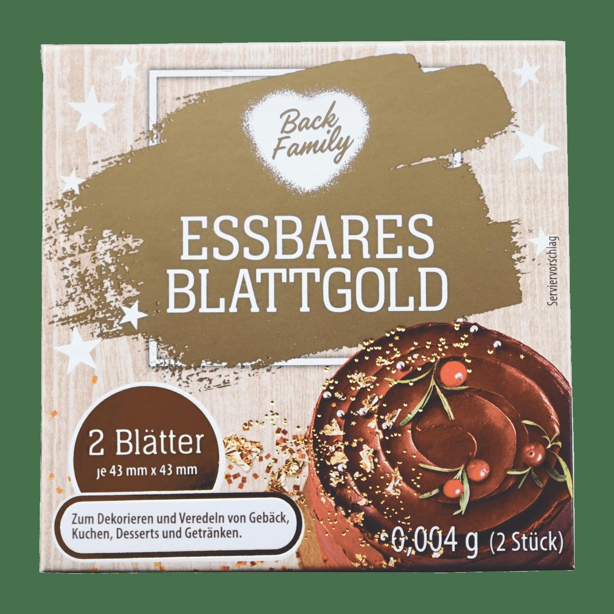 Back Family Essbares Blattgold Gunstig Bei Aldi Nord