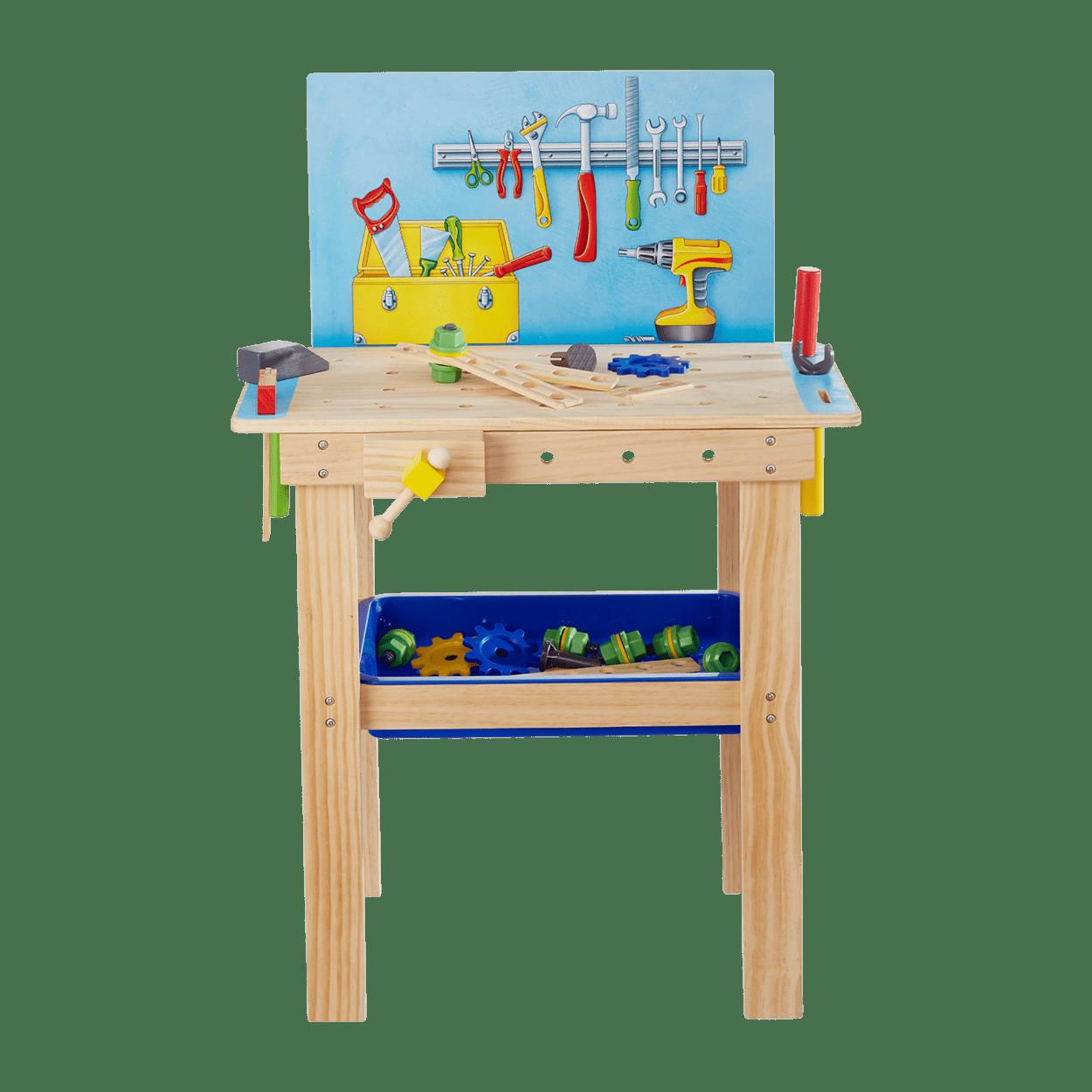 Playland Holz Kuche Werkbank Kaufladen Gunstig Bei Aldi Nord