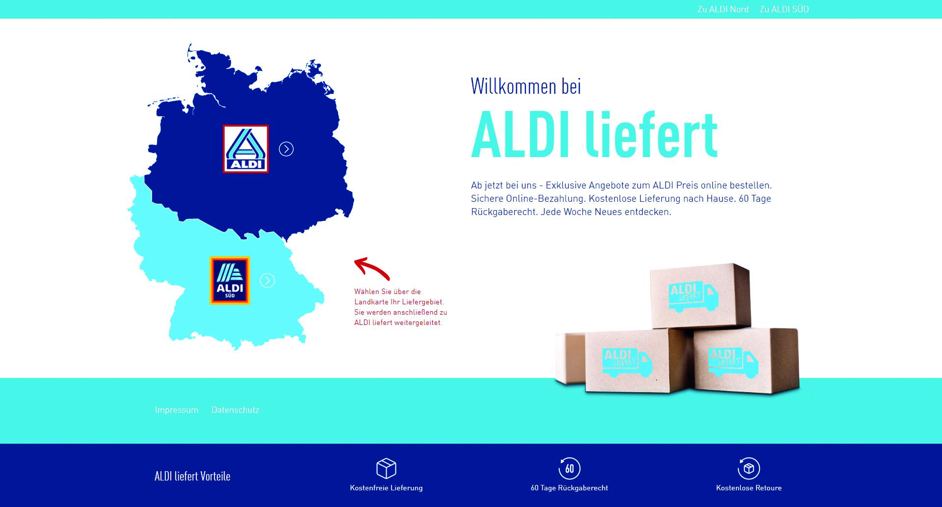 Aldi liefert ausgew hlte aktionsartikel bei aldi online for Saldi mobili on line