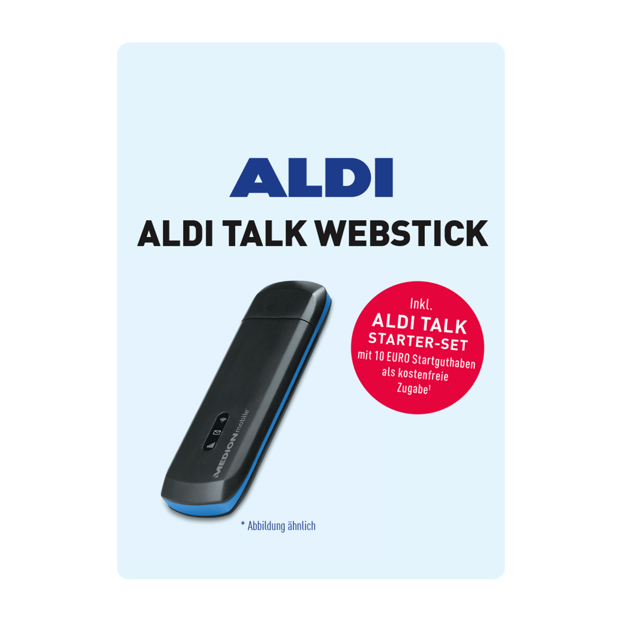aldi talk webstick g nstig bei aldi nord. Black Bedroom Furniture Sets. Home Design Ideas