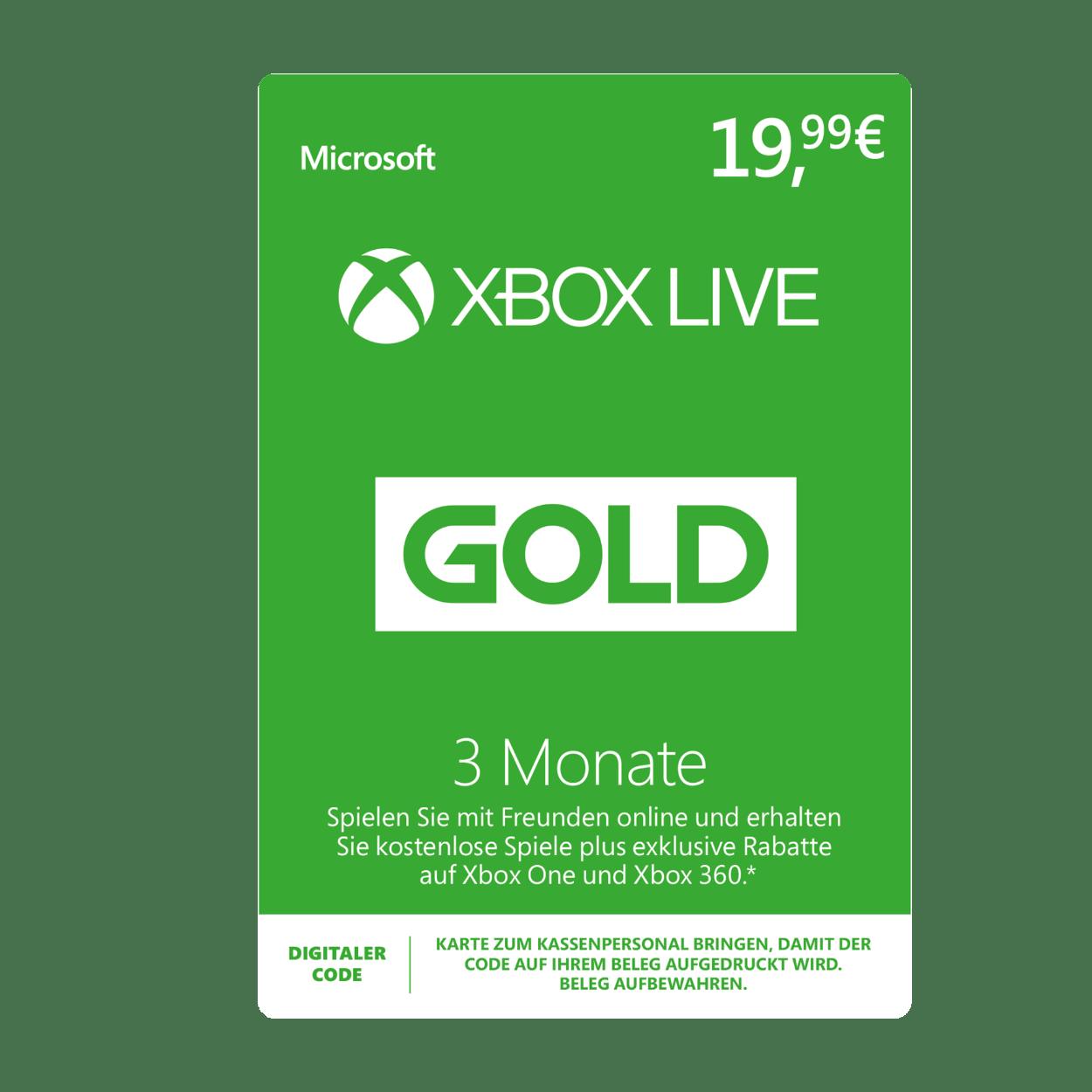 xbox live karte Microsoft Xbox Live Gold 3 Monate günstig bei ALDI Nord