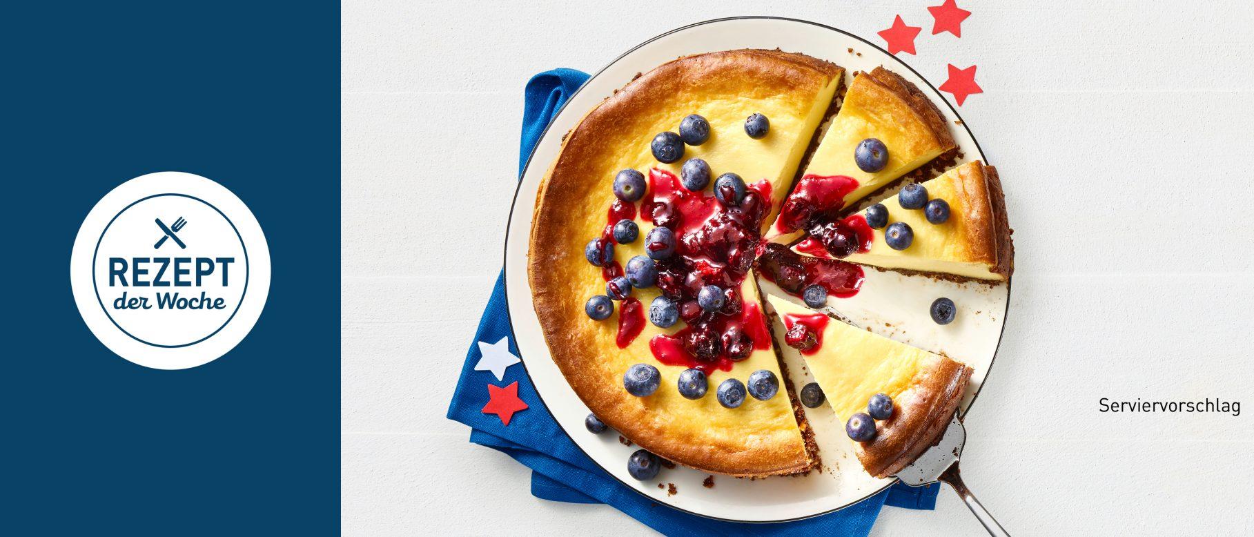 Aldi Rezepte Weihnachten.American Cheesecake Mit Heidelbeeren