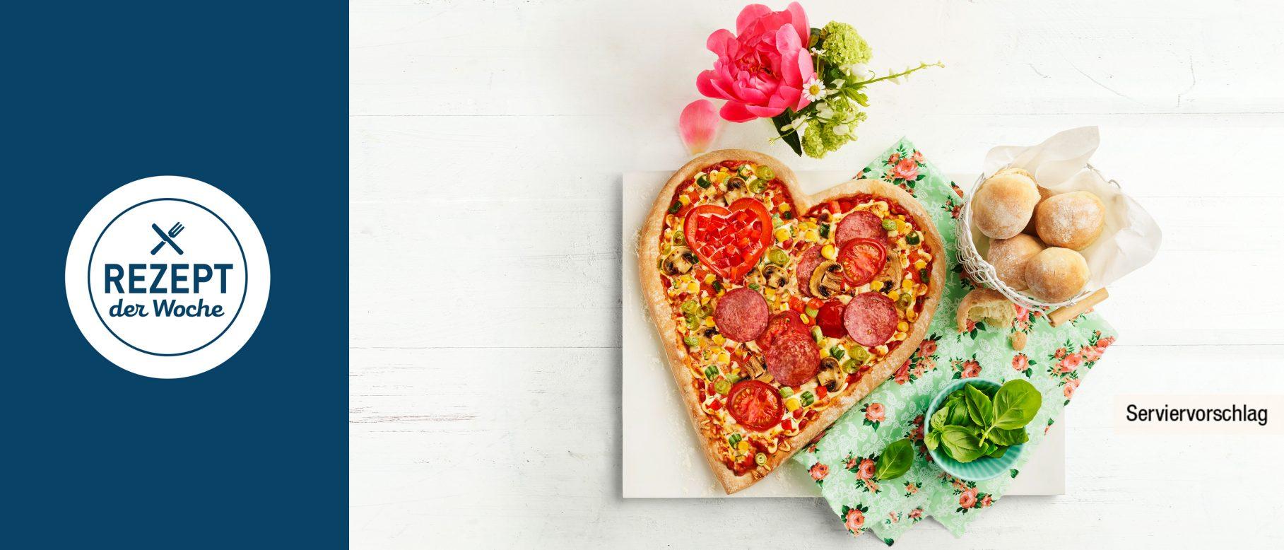 bunte pizza in herzform rezepte von aldi nord. Black Bedroom Furniture Sets. Home Design Ideas