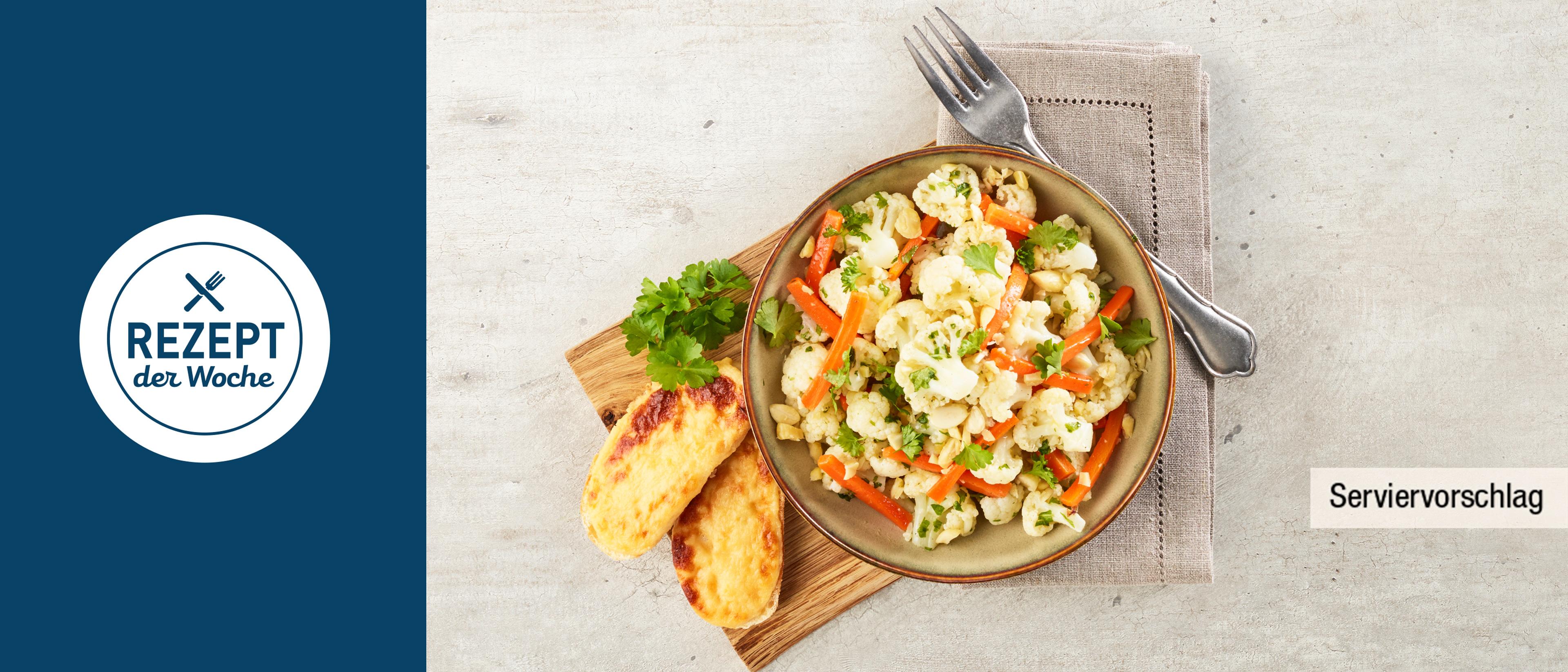 Blumenkohl Salat Mit Pinienkernen Und Grapefruit Crostini